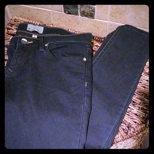 Dark Roxy denim stretch skinny jeans